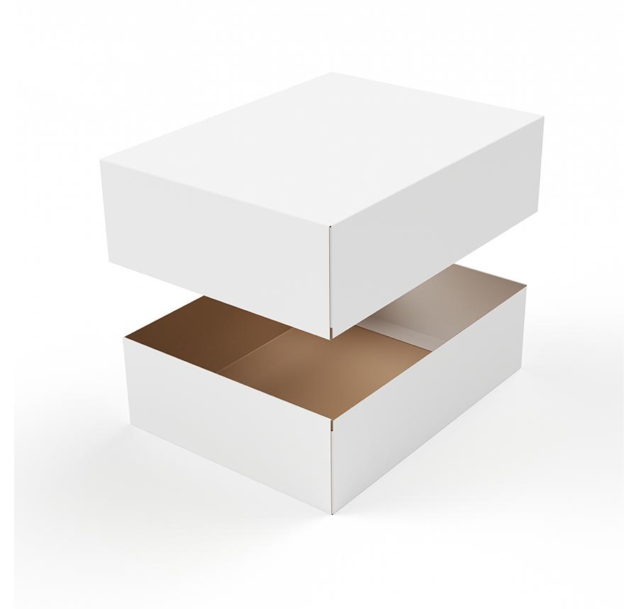 牛皮纸鞋盒白色